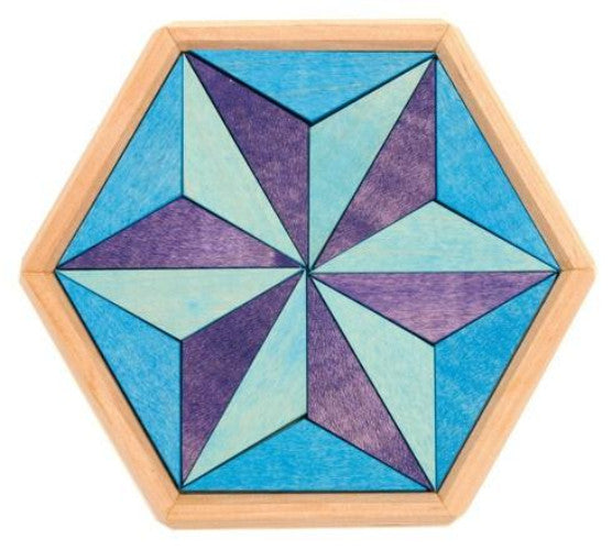 GRIMM's mini puzzle hexagon blue