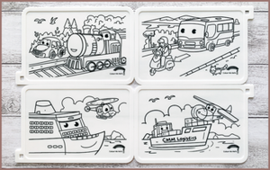 COLOUR ME MATS Passenger & Logistics Vehicles (Colouring Mat Bundle)
