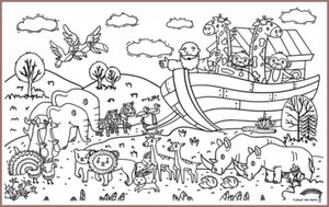 COLOUR ME MATS Noah's Ark (Colouring Mat Only)