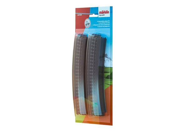 MARKLIN Curved Plastic Tracks R1 = 360 mm/30º (Unit pack: 6 tracks)