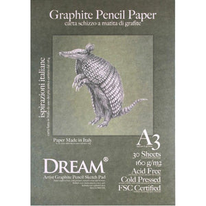 DREAM Graphite Pencil Paper Pad 160gsm A3 - 30's