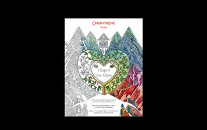 Caran d'Ache L'Esprit Des Alpes Colouring Book