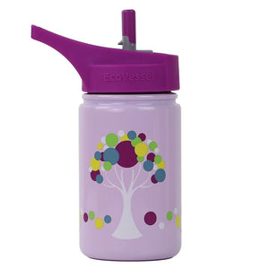 ECOVESSEL Scout - 13oz (400ml) Kids Single Wall Steel Bottle with Straw Top