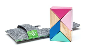 TEGU 6 Piece Pocket Pouch Prism in Blossom