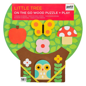 PETIT COLLAGE Chunky wood puzzle + play - Little Tree