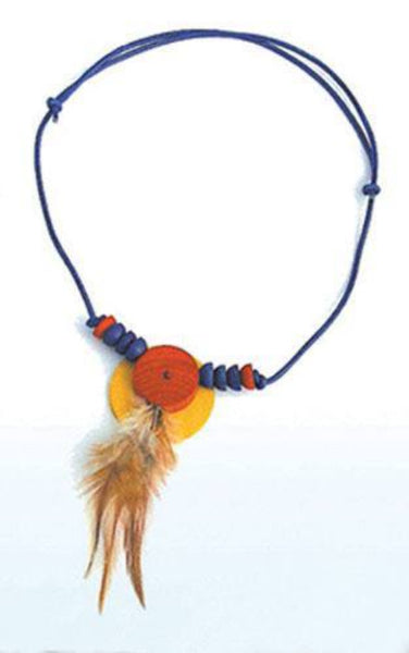 HELGA KREFT Necklace flying feather