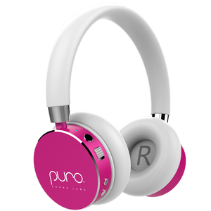 PURO BT2200 Pink Studio Grade Children's Bluetooth Headphones