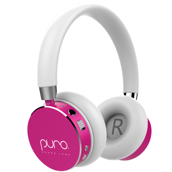 PURO BT2200 Pink Studio Grade Children's Bluetooth Headphones  (PRE-ORDER)