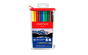 Caran d'Ache Fibralo Brush Markers 10 (Water-soluble)