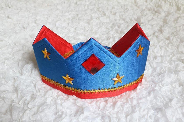 SARAH'S SILKS Crown - Red/Royal