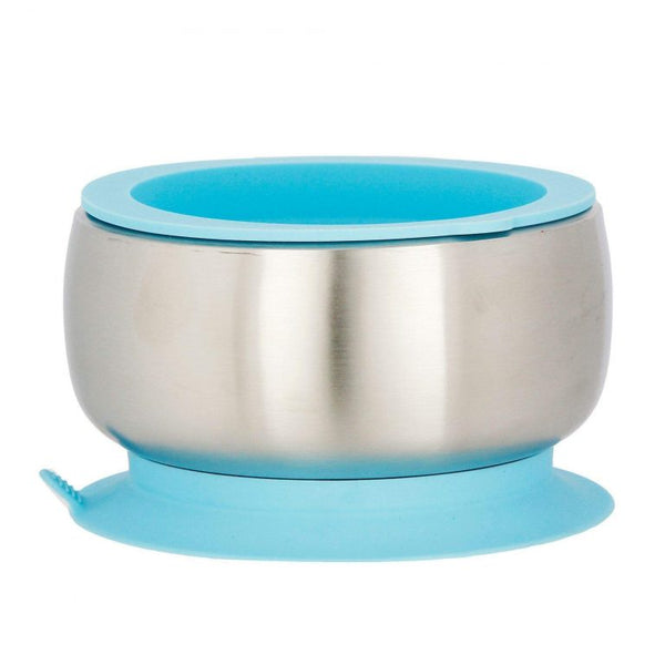 AVANCHY Stainless Steel Suction Baby Bowl + Lid