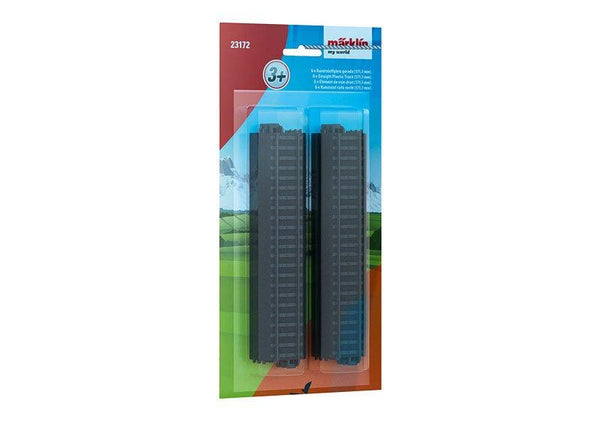 MARKLIN Straight Plastic Tracks 172 mm (Unit pack: 6 tracks)