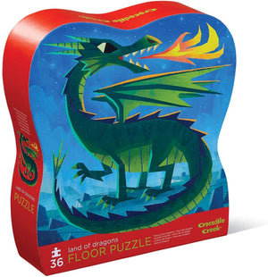CROCODILE CREEK 36-pc Puzzle-Land of Dragons