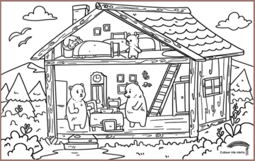 COLOUR ME MATS Goldilocks and the Three Bears (Colouring Mat Only)