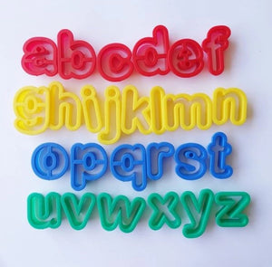 TYS ABC Cutters - Lowercase set