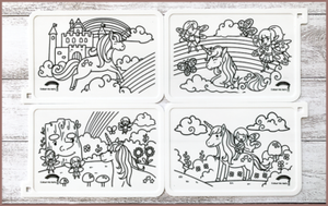 COLOUR ME MATS Magical Unicorns & Fairies (Colouring Mat Only)
