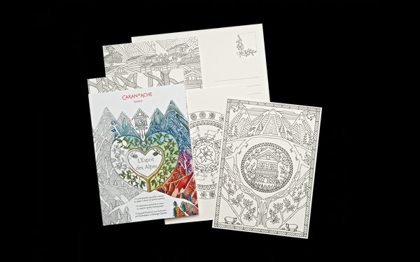 Caran d'Ache L'Esprit Des Alpes Colouring Postcards