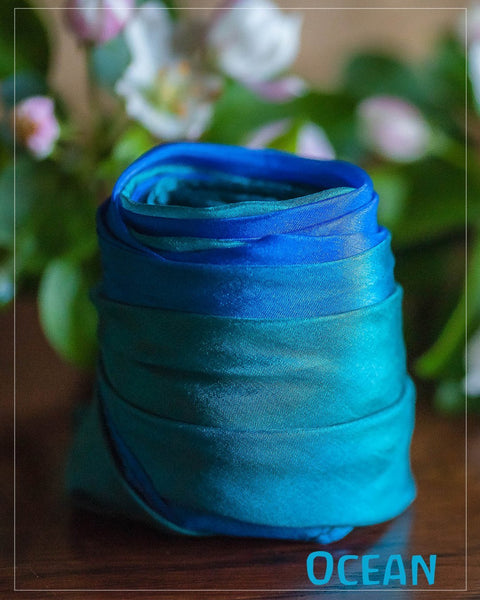 SARAH'S SILKS Mini Earth Playsilks - Ocean