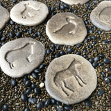 YELLOW DOOR Farmyard Footprints Sensory Stones (2-sided)