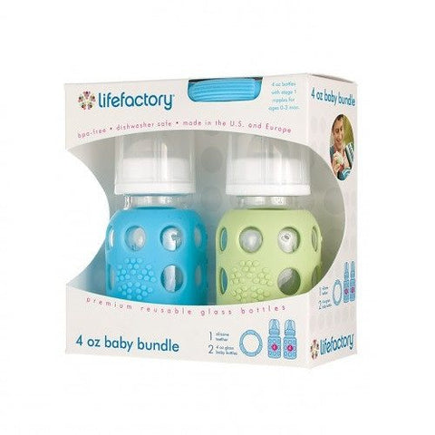 LIFEFACTORY 4oz Boy/Girl Bottles and Teether