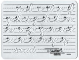 SCHOOL RITE Lowercase Cursive Template