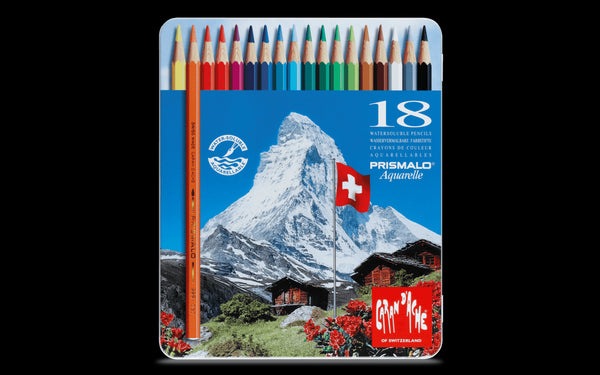 Caran d'Ache Prismalo 18 (Water-soluble colour pencil)