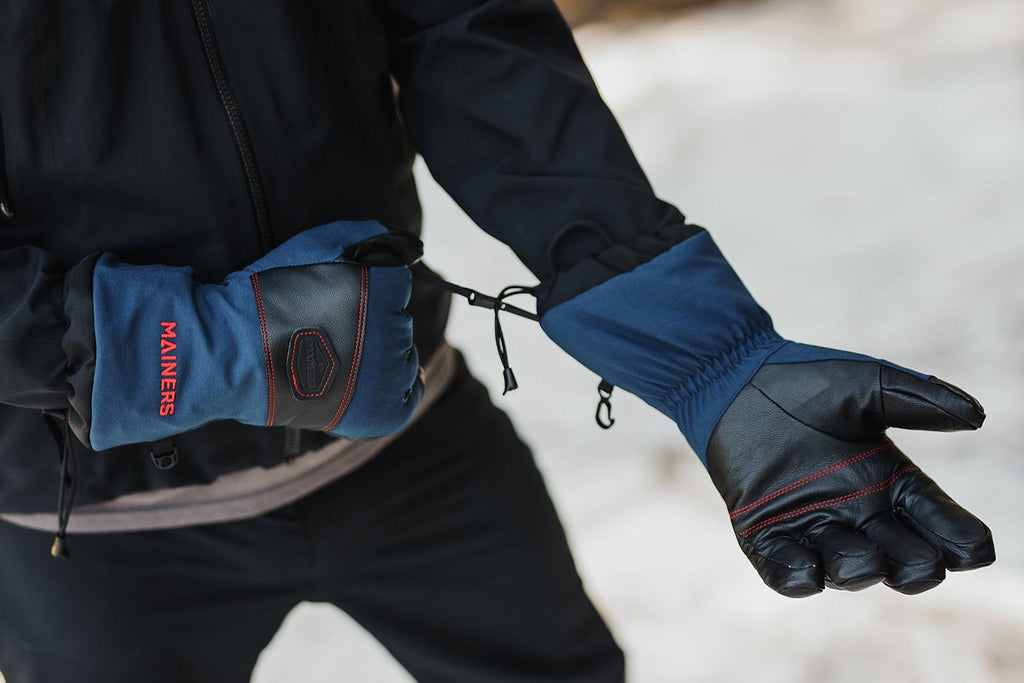 winter gloves, warm gloves, extreme cold gloves, gloves made in USA, Sterling rope pulls