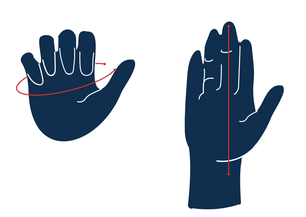 glove sizing, measure hand for gloves, mitt sizing, measure hands for gloves