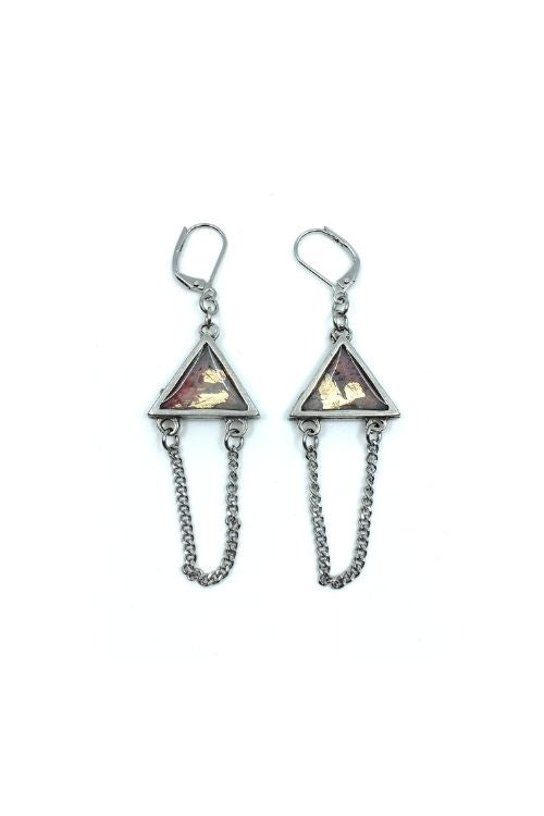 Elza Earrings - Punky Pewter