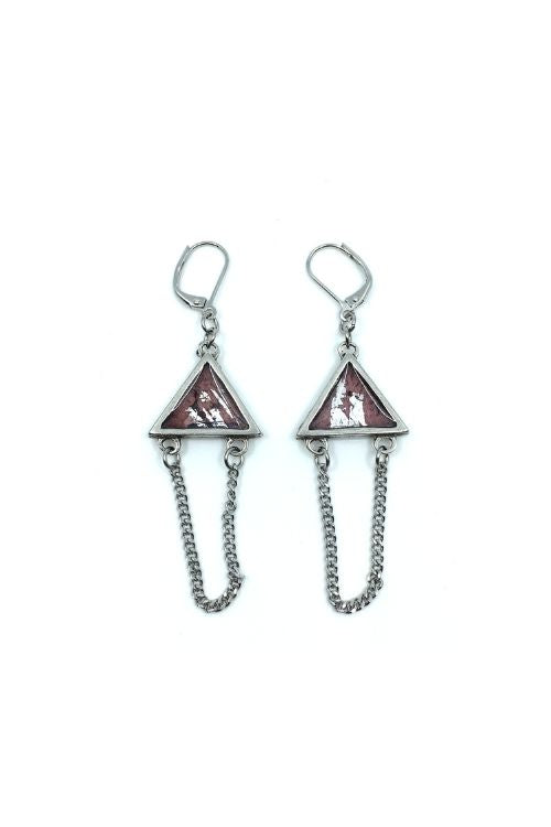 Elza Earrings - Pink Pewter