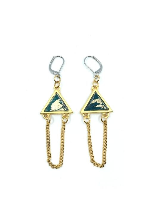 Elza Earrings - Turquoise Plated
