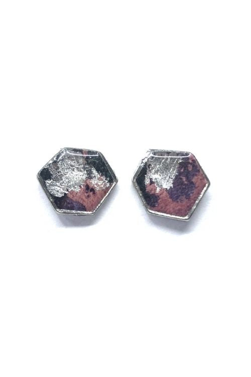 Agathe Earrings - Pink Pewter