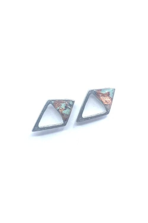 Upload image to gallery, Gabriella Earrings - Copper pewter