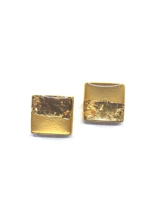 Agathe Earrings - Gold Leaf Plated