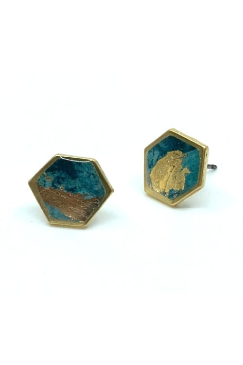 Camila Earrings - Turquoise Plated