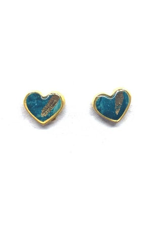 Amy Earrings - Turquoise Plated