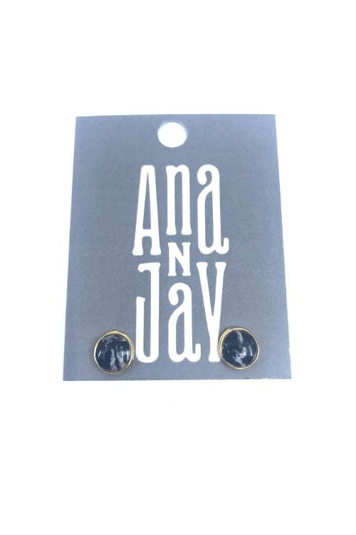 Upload image to gallery, Lena Earrings - Black Marble Plated