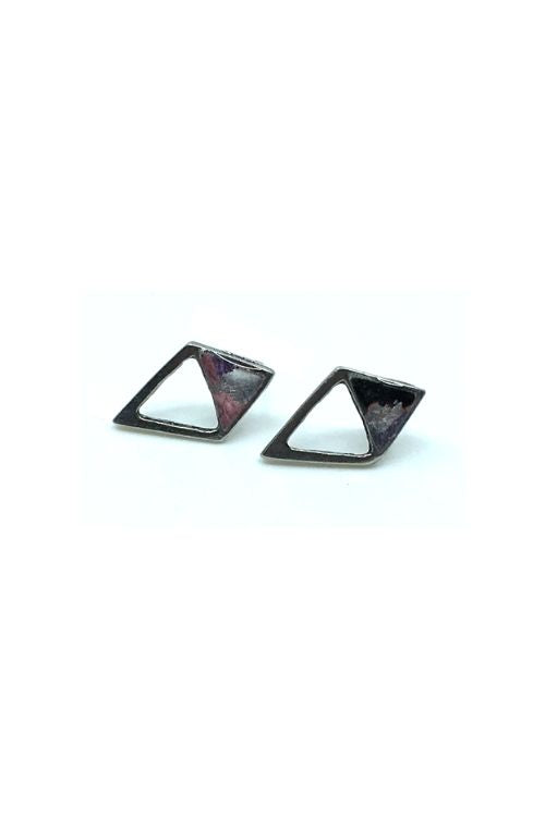 Gabriella Earrings - Pink Pewter