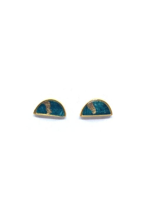 Lili Earrings - Turquoise Plated