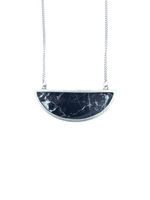 Bella Necklace - Black Marble Pewter