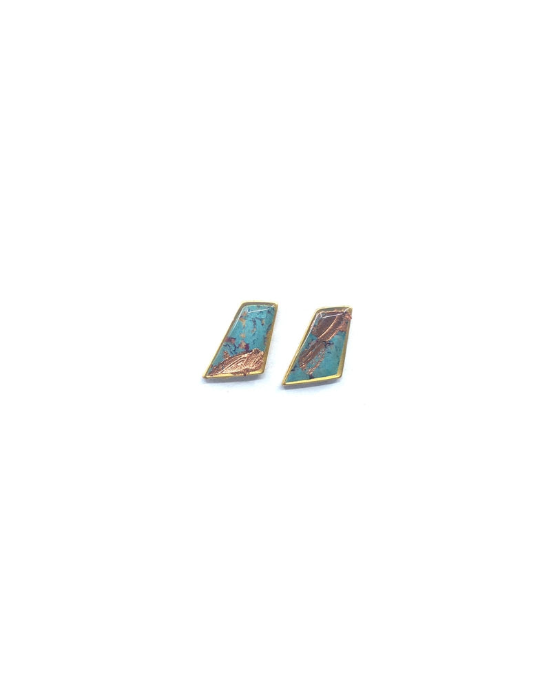 Lydia Earrings - Blue Plated
