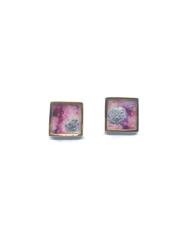 Mila Earrings - Pink Shades Plated