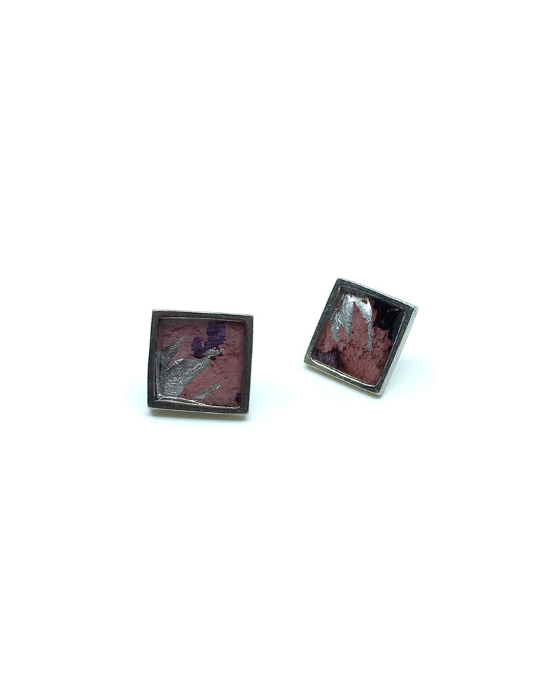 Mila Earrings - Pink Pewter