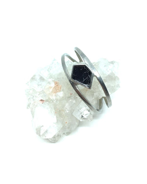 Upload image to gallery, Betsy Bracelet - Black Marble Pewter