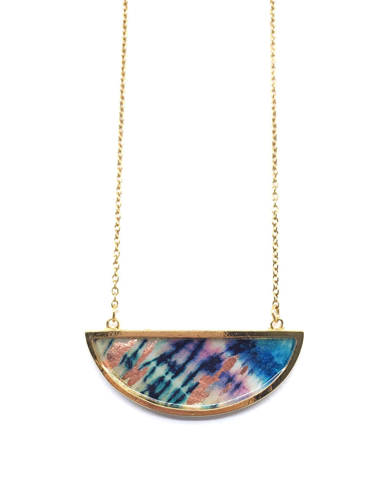 Bella Necklace - Gold Plated, Indigo Copper