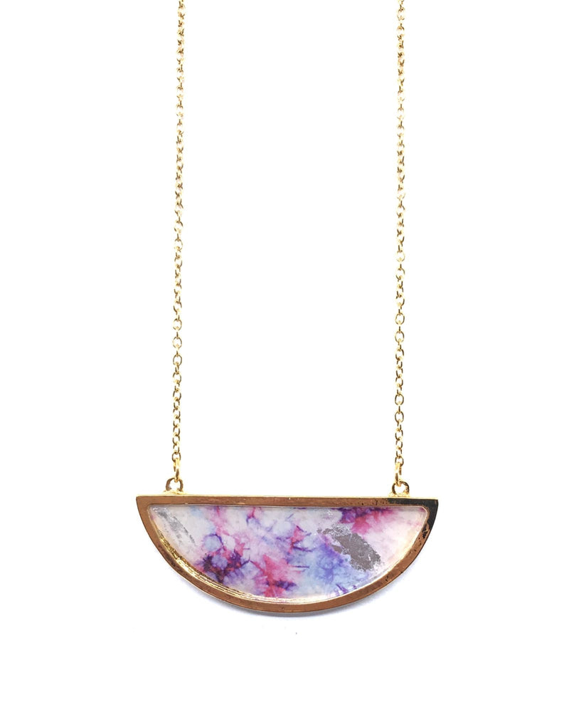Bella Necklace - GOLD Plated, Shades of pink