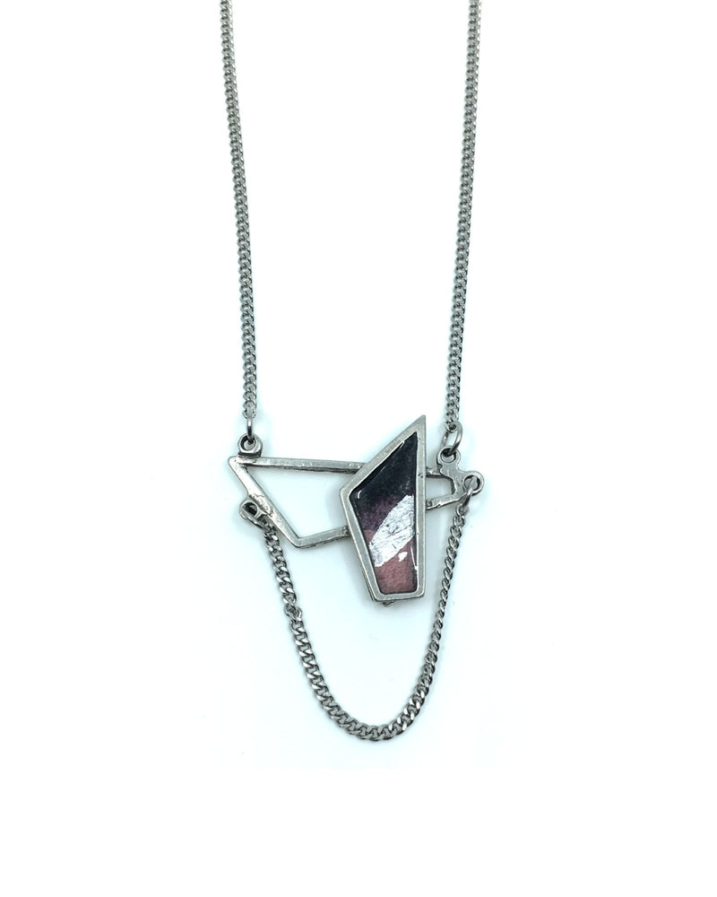 Daisy Necklace - Pewter, Plum