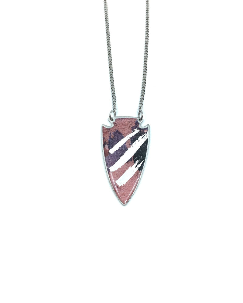 Daya Long Necklace - Pink Pewter