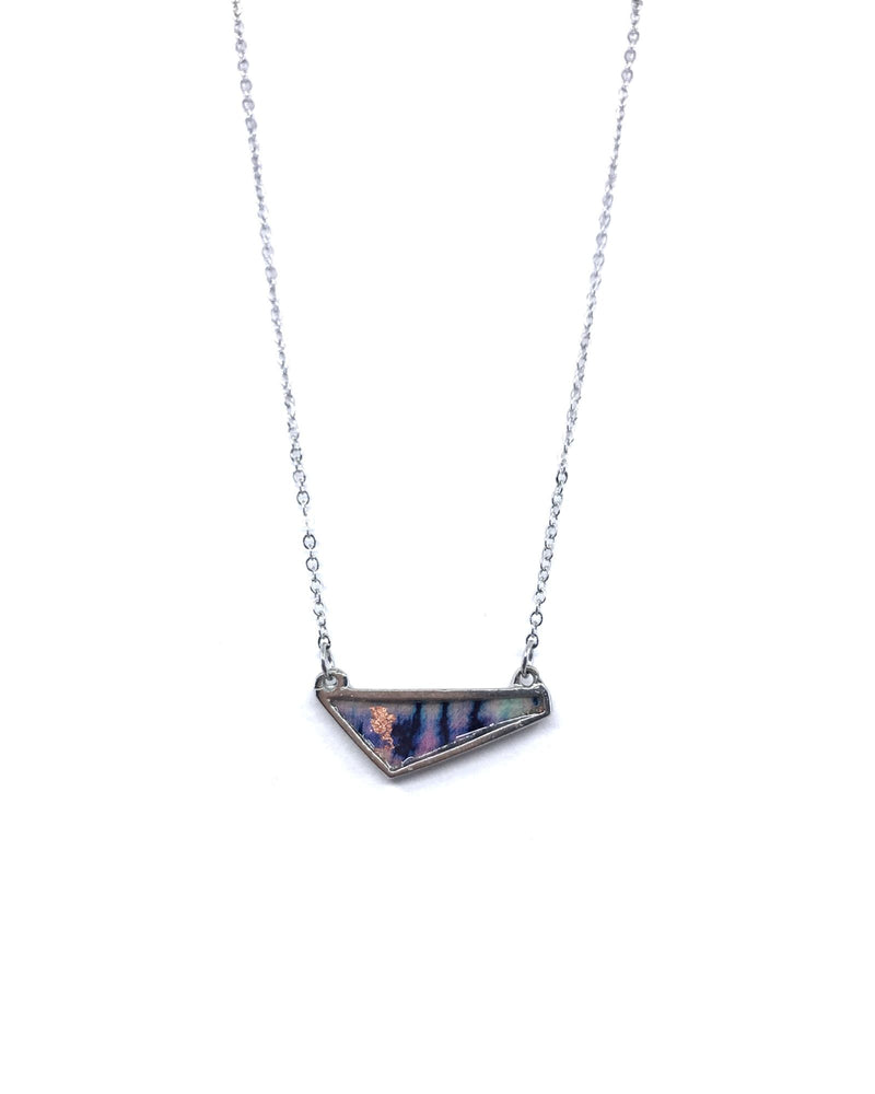 Eva Necklace - Pewter, Indigo Copper