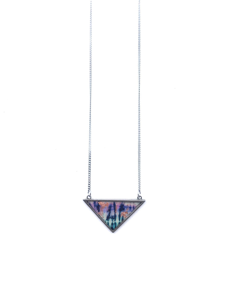 Upload image to gallery, Long Iris Necklace - Pewter, Indigo Copper